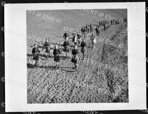 1942 Paiforce - 2nd Batt Inniskilling Fusiliers Pipe Band - W.O. photo 12 by 9cm