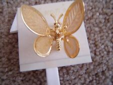 Gold Tone Butterfly Motion Pin, By Cheng'S,