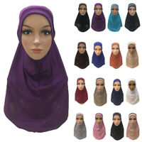 One Piece Arab Islamic Muslim Women Hijab Amira Head Cover Wrap Turban Scarf Hat