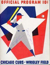 1964 7/16 Baseball program New York Mets @ Chicago Cubs, Autographs!, scored ~VG