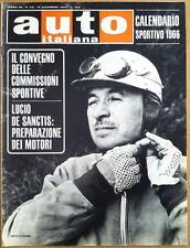 Auto Italiana - Dicembre  1965 - Porsche Carrera - Sesto Leonardi - Formula 1