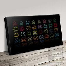 Space Invaders Retro moderno lienzo de juego clásico impresión de arte (actualizado a 120x56cm)