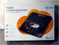 AT&T 1740 Digital Answering System with Time and Day Stamp Black