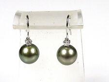 elegante Ohrhänger - CHRIST - Tahiti-Perlen + Brillanten 0,20ct - 585 Weißgold