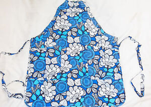 NWT Vera Bradley APRON in BLUE BAYOU 18761-159 adult full kitchen cooking bbq