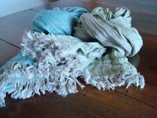 sciarpa tessuta a telaio artigianale in lino double face di vari colori