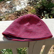 Armani Exchange Beanie Skull Cap Hat Navy Blue & Red Stripe~1 Size~AX Logo Tagg