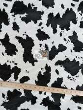 VELBOA FABRIC COW PRINT FAUX FUR- Blac/White ONLY $6.49/YARD-SOLD BTY 715-39