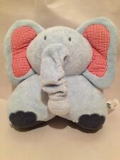 Pottery Barn Kids Infant  Blue Crib Plush Musical Elephant With Pull Trunk