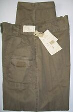 "Womans NWT Khaki SZ 12 Pants Cuffs Pleats Retro 31"" W cargo Trail Designs Cotton"