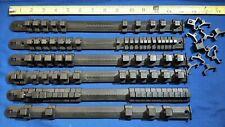 "6 vintage plastic Craftsman socket rails.  1/2"" drive  3/8"" drive & 1/4"" drive"