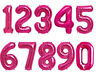"""** 34"""" PINK GIANT FOIL NUMERAL BALLOONS HELIUM OR AIR NUMBER 0 1 2 3 4 5 6 7 8 9"""