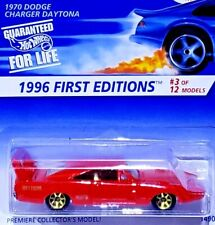 HOT WHEELS 1996 FIRST EDITIONS 70 DODGE CHARGER DAYTONA 7 SPOKES RED 1/64 Scale
