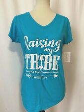 New listing Foster Care Tshirt Top RAISING MY TRIBE ONE LITTLE FOSTER LOVE AT A TIME M Aqua