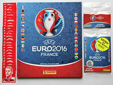 PANINI EURO 2016-Set 24 sticker Coca Cola + 84 AGGIORNAMENTI + ALBUM Hardcover