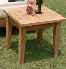 """Atnas Grade-A Teak 26.5"""" Square Side End Table  Stool Outdoor Patio Furniture NW"""