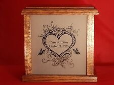 Wedding or Anniversary Personalized Gift Etched Glass Light Box Handmade Crafts