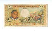 MADAGASCAR 5000 FRANCS ND 1966 P.60 Circulated paper money