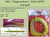 Fliegenschnur – GOLD WF5F real gold - vgl. Rio Gold