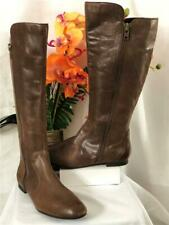 """BORN """"Pruitt"""" in Castagno Brown Leather Side Zipper Knee High Boots #D75823 US9M"""