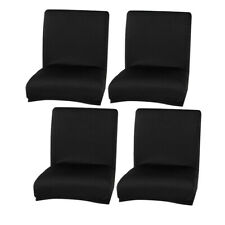 4x Solid Color Dining Chair Cover Home Bar Stool Slipcover Protector Party Decor