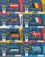 GREECE set of 25 phonecards European Union 04/04 used