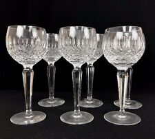 "Six Vintage Waterford Ireland Crystal Colleen Wine Hock Glasses 7-3/8"" 6 oz."