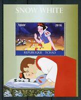 Chad 2016 MNH Snow White 1v M/S Disney Cartoons Stamps