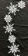 Fiocco di Neve Bianco Ghirlanda 180cm Natale Florisrty Ghirlanda Decorazione