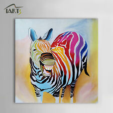 Modern Abstract Cartoon Animal Oil Painting Laughing Horse Home Wall Decoration