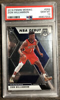 2019-20 Panini Mosaic NBA Debut #269 Zion Williamson Pelicans Rookie RC PSA 10