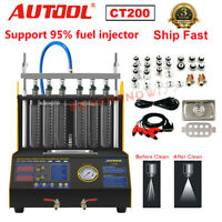 AUTOOL CT200 Petrol 6 Cylinder Car Motorcycle Fuel Injector Ultrasonic Cleaner