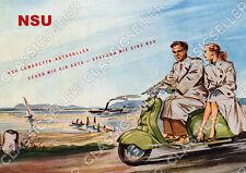 NSU Lambretta Motorroller Roller Poster Plakat Bild Kunstdruck Schild Affiche