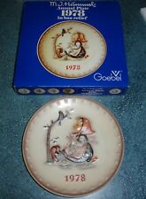 "Goebel Hummel ""Happy Pastime"" #271 1978 Limited Edition Plate Gift For Mom!"