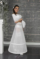 New Womens White Ivory Petticoat Underskirt Dress Crinoline Skirt Size S-XXL