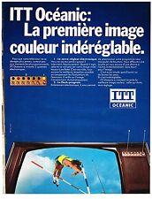 PUBLICITE ADVERSTISING  1972   ITT  OCEANIC  téléviseur