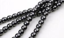 16 Inch Strand of Genuine Hematite Round Beads 5MM