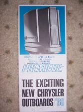 1966 Chrysler Boat Outboard Motor Promo New 75 105   J