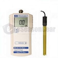Milwaukee MW402 TDS Portable Meter/Tester/SM402, 0.0 - 10.0 g/l (ppt), ATC