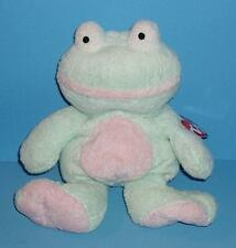 Adorable Grins Frog Green Pink Floppy Infant Plush Pluffies Tylux Toy Ty 2002