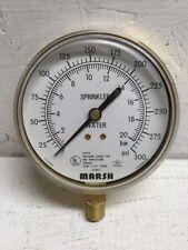 Marsh/Bellofram W0410W1 Pressure Gauge Fire Protection Service
