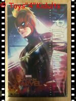Hot Toys MMS 521 Captain Marvel Brie Larson 1/6 Action Figure Normal Version NEW