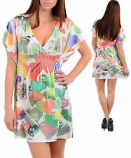 N20 -S/Small- Multi-Color Stretch Tattoo-Heart Lazer Print Mini Dress
