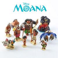 Lot de 10 figurines  Disney film Vaiana La Légende du bout du monde Moana Maui