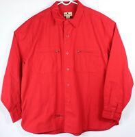 NWOT Woolrich Mens XL Shirt Flannel Red Heavyweight Button Up Cotton Chamois