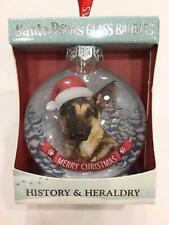More details for pair of german shepherd bauble christmas tree decoration gift/present