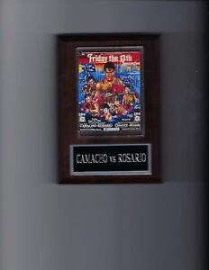 HECTOR MACHO CAMACHO vs EDWIN ROSARIO POSTER PLAQUE BOXING PHOTO PLAQUE CHAMPION