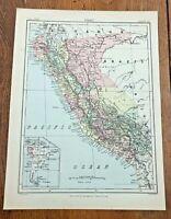 circa 1880s colour map of peru !  ( adam & charles black )