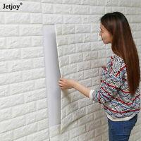 DIY PE Foam 3D Self Adhesive Panels Wall Stickers Home Decor Embossed Brick 2PCS