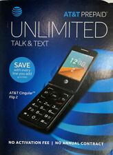 At&T Prepaid Cingular Flip 2 4G Lte Cell Phone Dark Gray 4Gb New